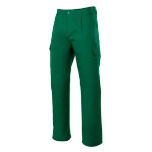 pantalón de trabajo multibolsillos verde 200 gr
