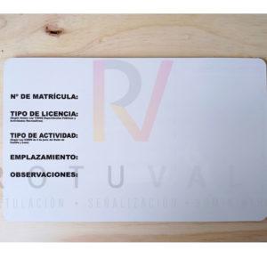 Placa matrícula hostelería de Valladolid