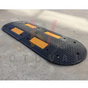 Reductor de velocidad réflex amarillo y negro
