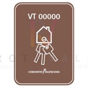Vinilo vivienda turísticas rural Comunidad Valenciana