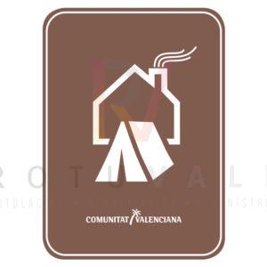 Placa acampada finca particular para la Comunidad Valenciana