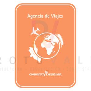 Placa de agencia de viajes de la Comunidad Valenciana