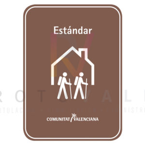 Placa albergue turístico rural Estándar para la Comunidad Valenciana