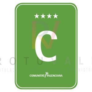 Placa camping 4 estrellas Comunidad Valenciana