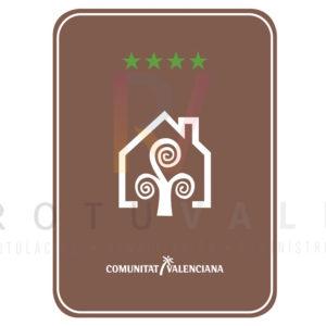 Placa casa rural 4 estrellas Comunidad Valenciana
