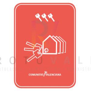 Placa conjunto de viviendas turísticas 3 llaves en la Comunidad Valenciana