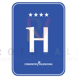 Placa distintivo para Hotel en la Comunidad Valenciana 4 estrellas