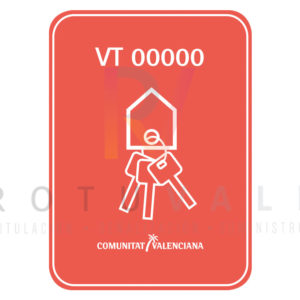 Vinilo adhesivo para viviendas turísticas de la Comunidad Valenciana