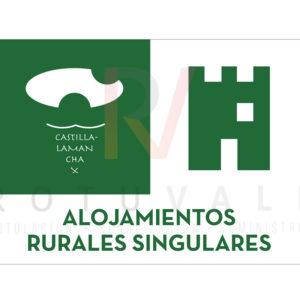 Placa homologada Alojamientos Rurales Singulares de Castilla La Mancha