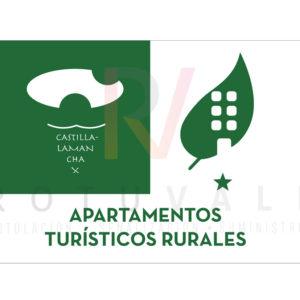Placa homologada de Apartamentos Turísticos Rurales de Castilla La Mancha
