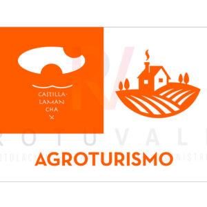 Placa homologada Agroturismo de Castilla La Mancha