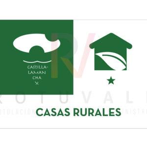 Placa homologada de Casas Rurales de Castilla La Mancha
