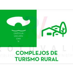 Placa homologada Complejos de Turismo Rural de Castilla La Mancha