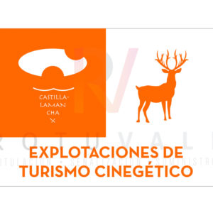 Placa homologada Explotaciones de Turismo Cinegético de Castilla La Mancha