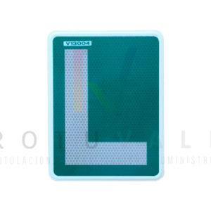 Placa L conductor novel señal V-13 homologada y reflectante