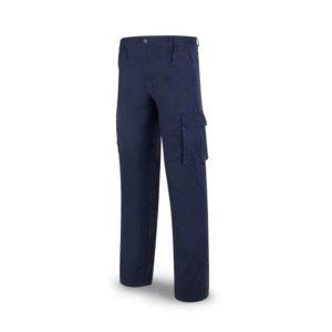 pantalón de trabajo multibolsillos algodón azul marino