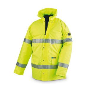 Parka de trabajo de alta visibilidad amarillo flúor