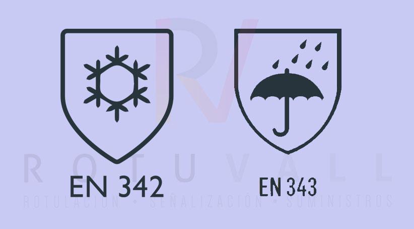 ¿Cuál es la norma europea en ropa de protección contra el mal tiempo?