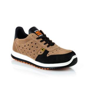 Zapato de seguridad deportivo modelo Runner de No Risk color marrón y negro