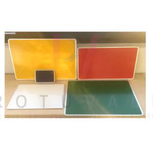Placas de aluminio fondo pintado varios colores y medidas